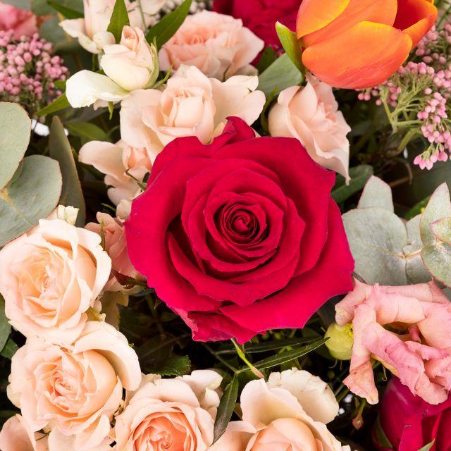 Envio a domicilio de rosas e flor de arroz