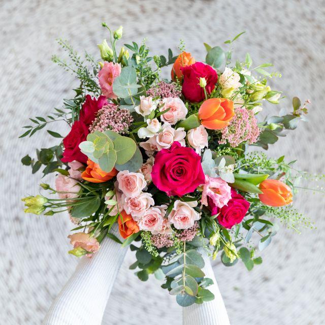 Enviar flores online rosas e flor de arroz