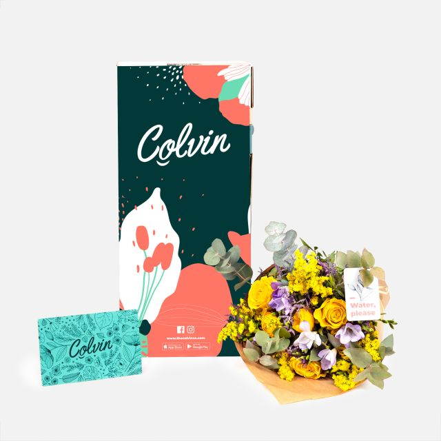 Inviare fiori online di rose e fresie