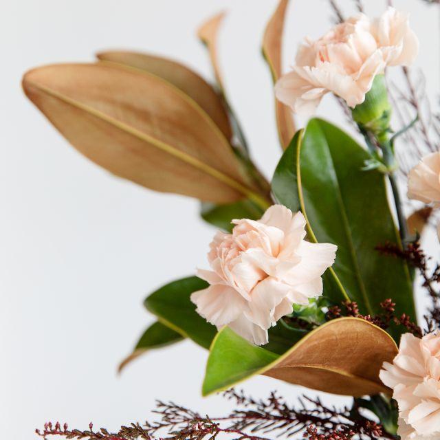 Comprar Ramo con magnolia y clavel rosa