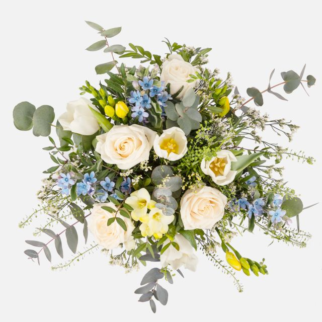 Invia bouquet di fiori con rose e fresie Spring Land