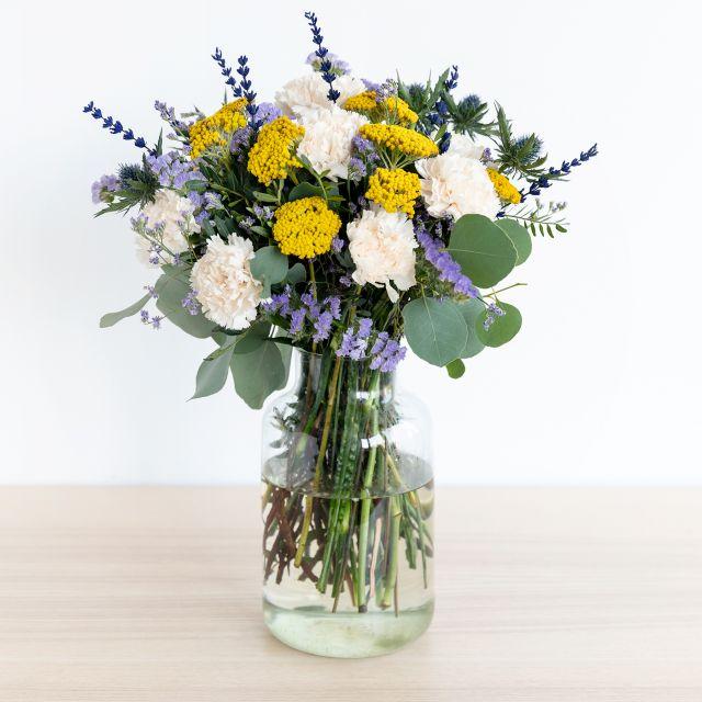 Blumenstrauß mit Dianthus und Statice versenden