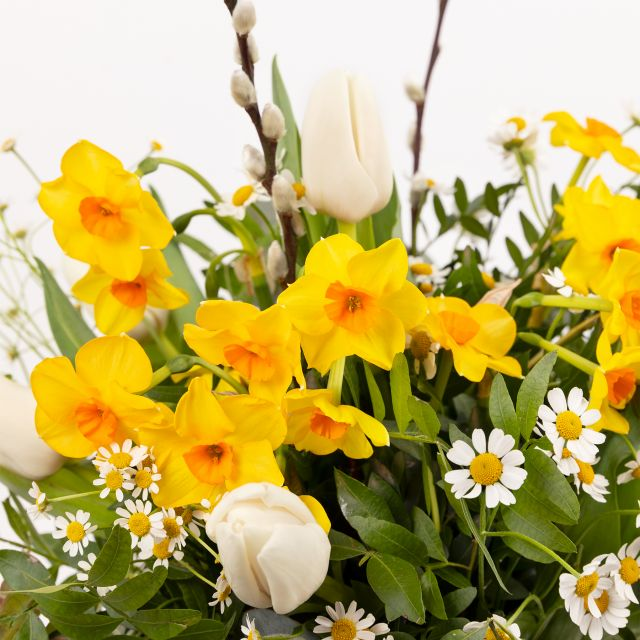 Decoración pascua flores