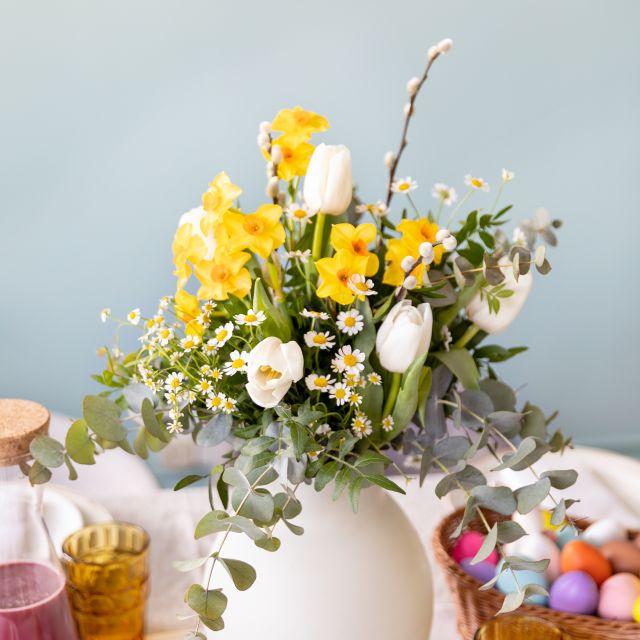 ramo de flores decoracion pascua