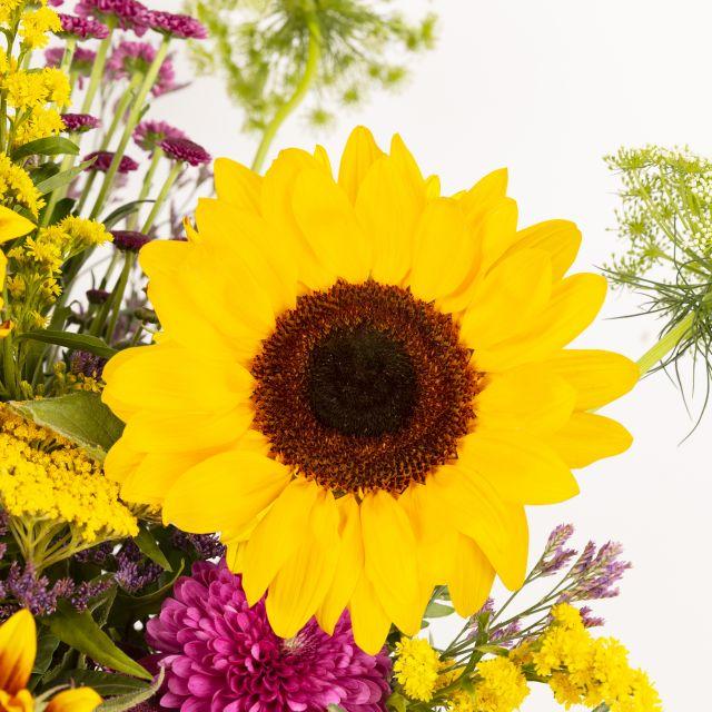 Enviar bouquet de girassóis e jarros