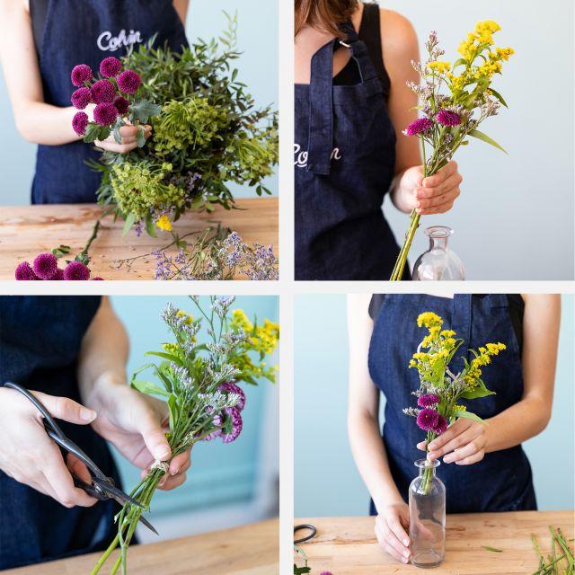 Enviar um ramo de girassóis e vasos para a sua morada