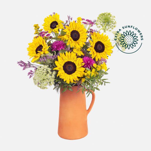 Blumenstrauß mit Sonnenblumen sunrise colvin