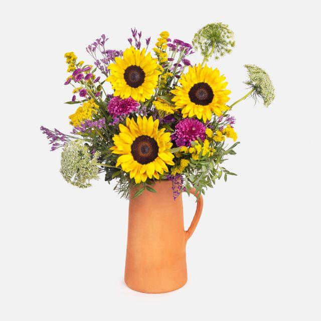 Ramo de flores con girasoles sunrise colvin