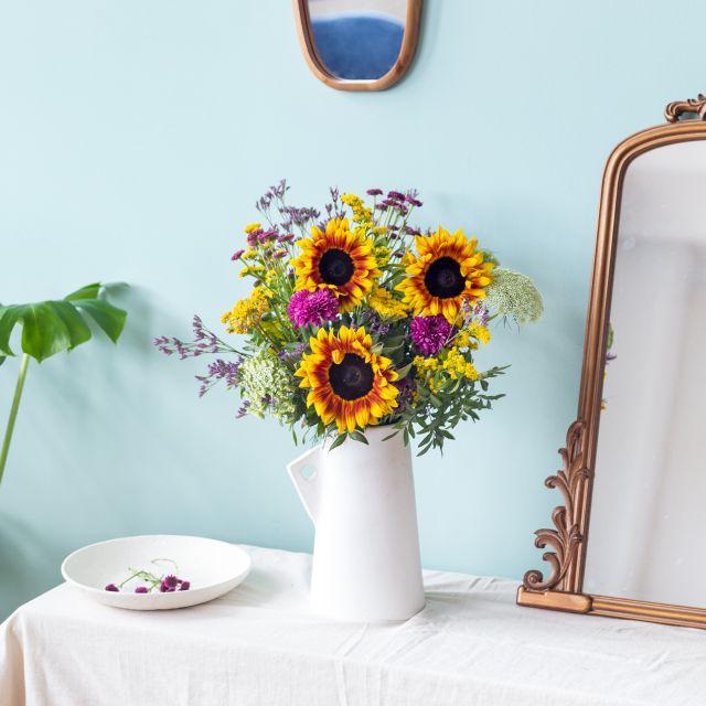 Ramo de flores com girassóis sunrise colvin