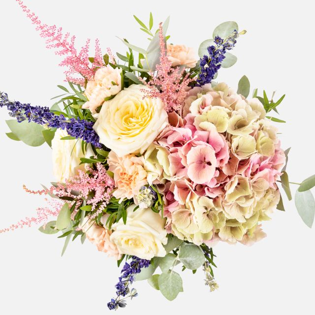 Enviar online ramo con hortensias rosas