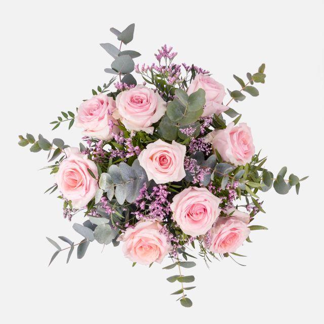 Blumenstrauß mit Rosen und Limonium mit Versand nach Hause