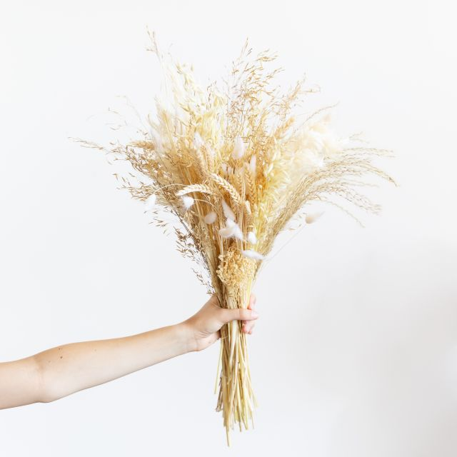 ramo flores secas con broom