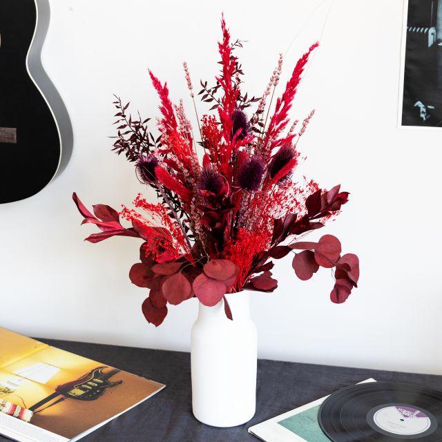Envio online ramo flores secas com ruscus