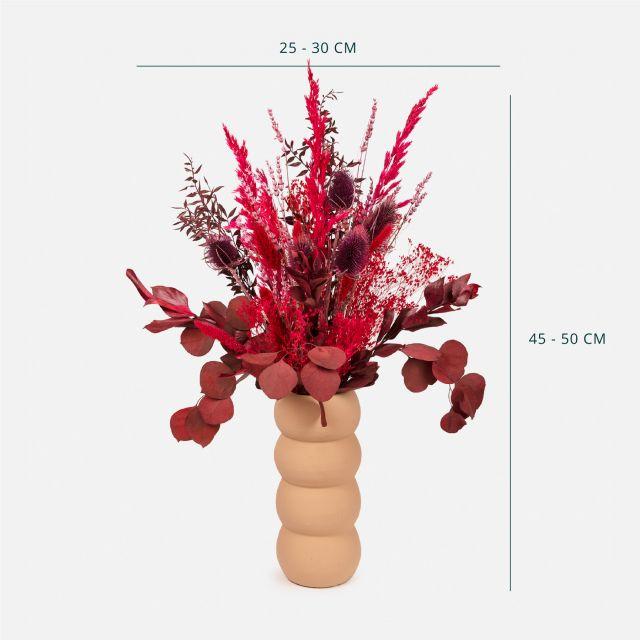 Comprar ramo de flores secas com ruscus