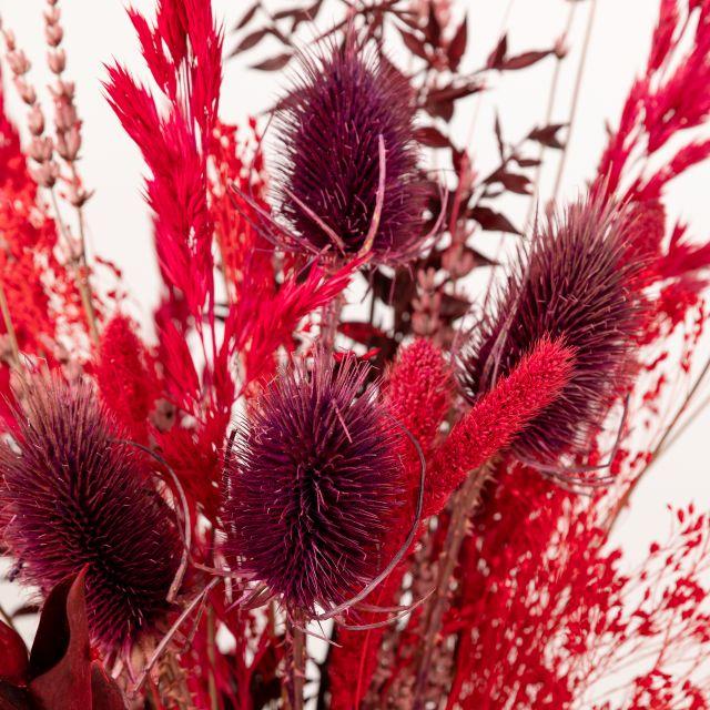 Enviar ramo de flores secas com ruscus