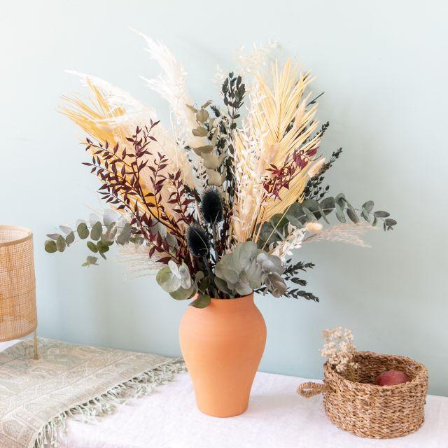 Enviar ao domicilio ramo flores secas folhas de palmeira