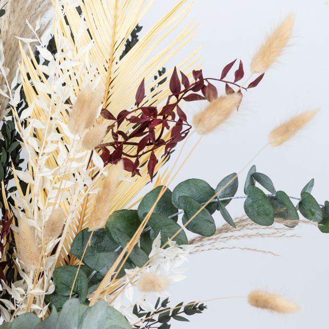 Enviar ramo de flores secas folhas de palmeira