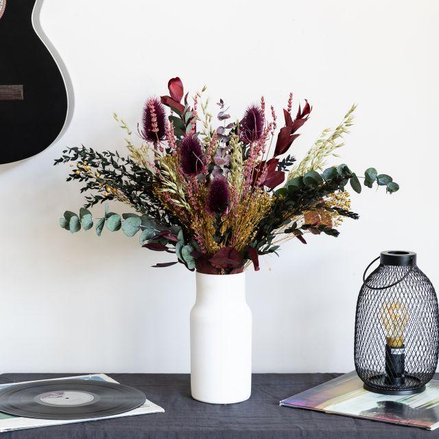 Enviar a domicilio ramo de flores secas con cardo