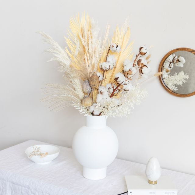 Envio online ramo flores secas algodão