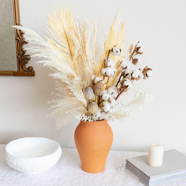 Enviar ao domicilio ramo flores secas algodão