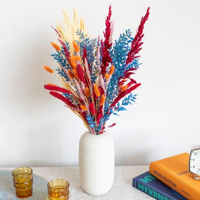 Enviar ao domicilio ramo flores secas e folhas de palmeira