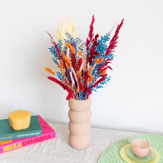Envio online ramo flores secas e folhas de palmeira