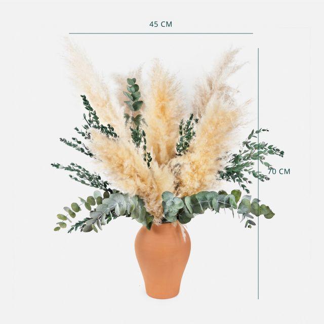 Comprare bouquet di erba di pampa ed eucalipto