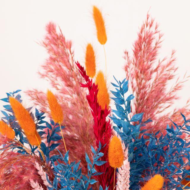 Invia bouquet di fiori con pampas