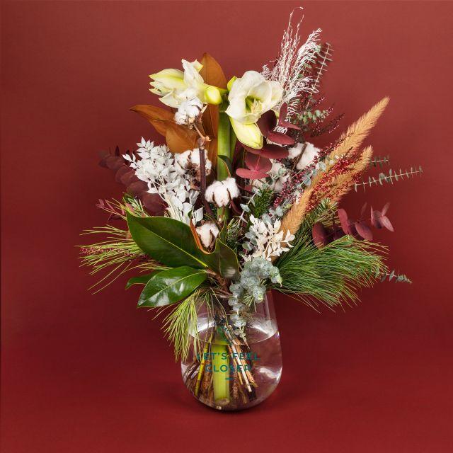 Bouquet di fiori con amaryllis
