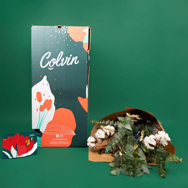 Enviar ramo de flores con algodon natural