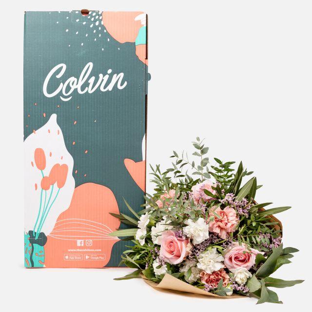 Online Blumenstrauß mit Rosen und Nelken versenden
