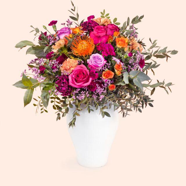 Blumenstrauß mit Rosen und Dianthus online versenden