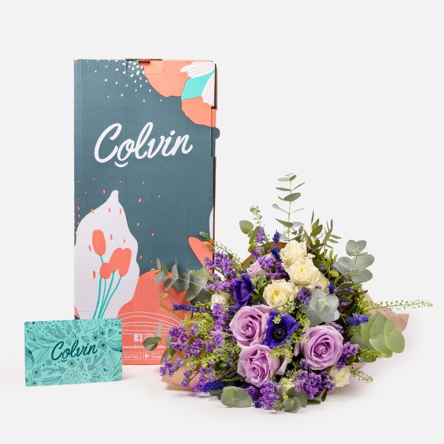 Enviar flores online de lavanda e rosas